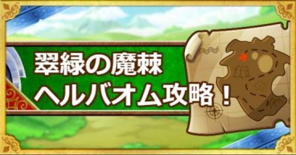 「翠緑の魔棘」攻略!???系2体以下でクリアする方法!