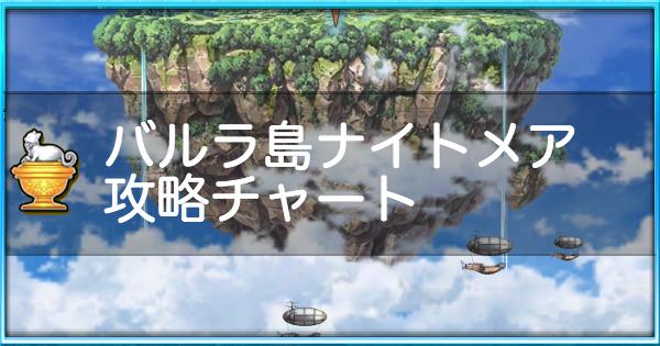 バルラ島(3島)ナイトメア攻略と適正キャラ