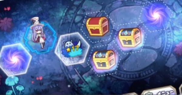 シャペルルルの魔法絵本の攻略とウラ青宝箱の出現場所