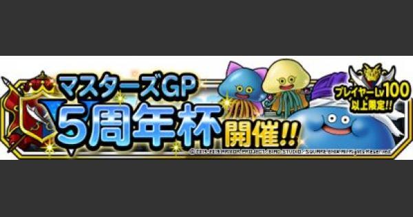5周年杯(マスターズGP)おすすめ攻略パーティまとめ!