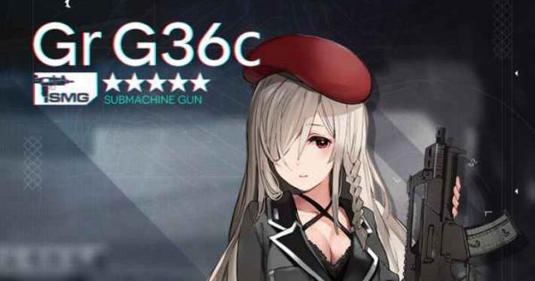 Gr G36Cのスキル性能と製造レシピ