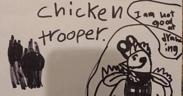 8歳の少年が描いたスキンが実装目前か!?チキントルーパー!