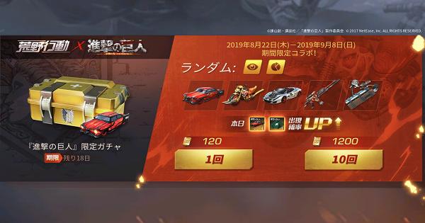 進撃の巨人ガチャシミュレーター【アンコール】