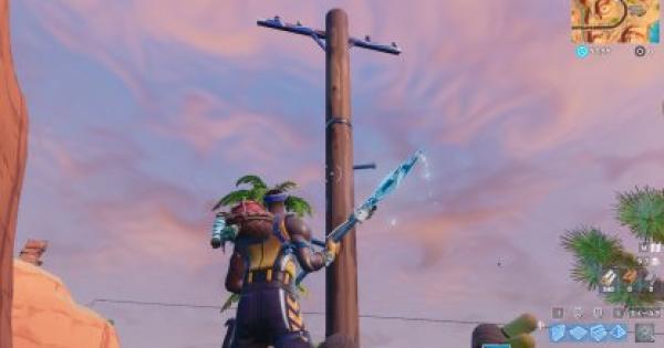 「木製の電柱を破壊する」チャレンジ攻略