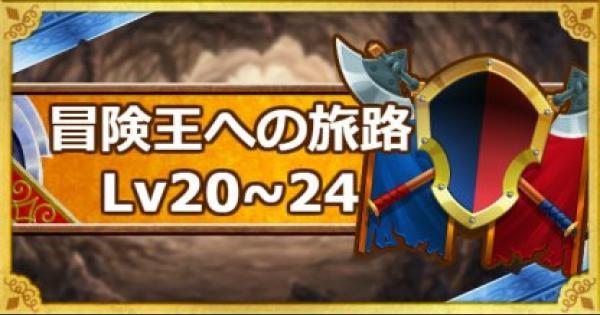「冒険王への旅路レベル20・21・22・23・24」攻略!