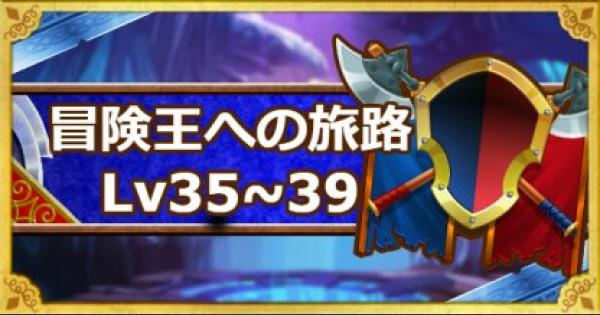 「冒険王への旅路レベル35・36・37・38・39」攻略!