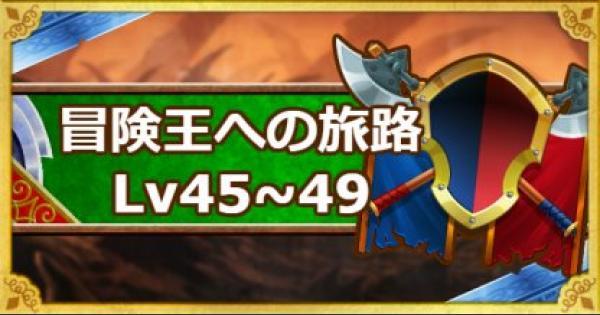 「冒険王への旅路 レベル45・46・47・48・49」攻略!