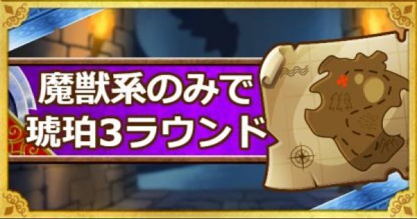 「呪われし魔宮」魔獣系のみで琥珀の魔獣を3ラウンド撃破攻略!