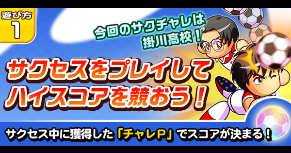 掛川高校サクセスチャレンジ(サクチャレ15)の攻略