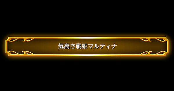 ストーリーS2「気高き戦姫マルティナ」攻略チャート