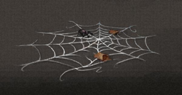 ネバネバしたクモ糸の入手方法と使い道