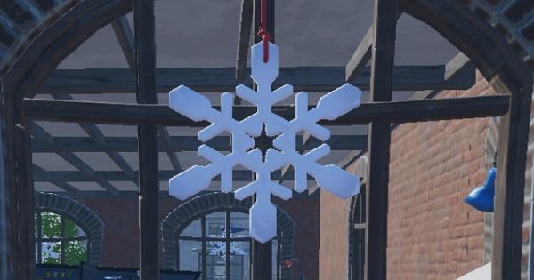 雪の結晶のデコレーションを破壊する
