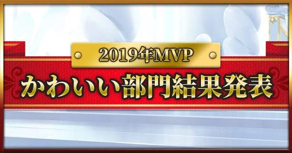 2019年MVPかわいい・好きなキャラ部門