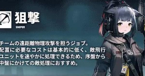 狙撃キャラ評価一覧|スナイパー