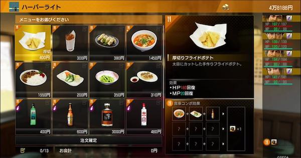 食事コンボの組み合わせと効果一覧