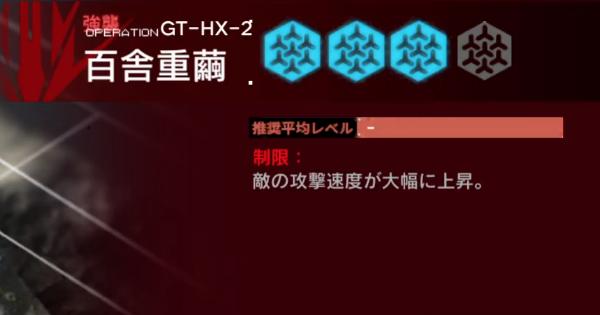 GT-HX2(強襲)の攻略|グラニイベント