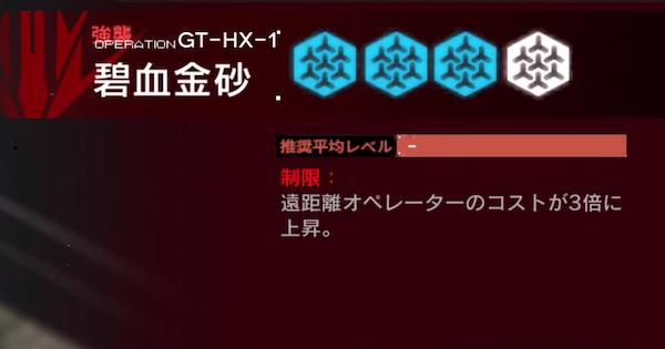 GT-HX1(強襲)の攻略|グラニイベント