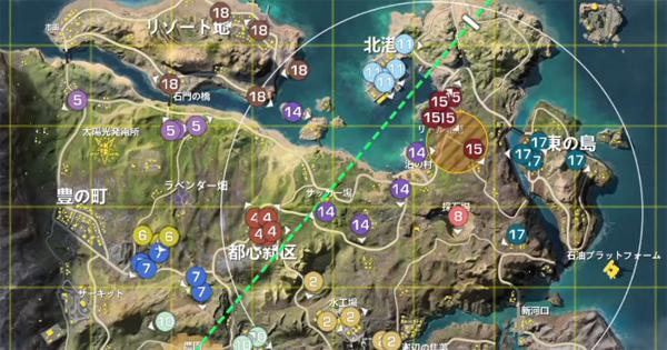 各チームの初動一覧(嵐の半島)|荒野HL2月度決勝戦