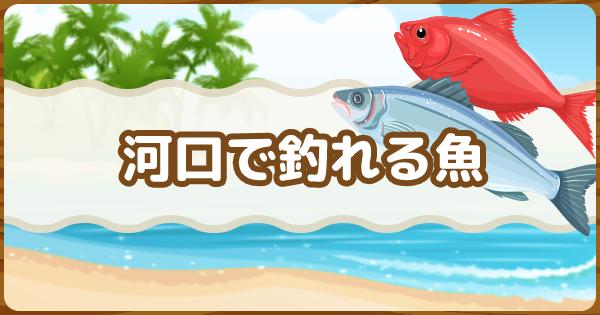 河口で釣れる魚図鑑・出現時間一覧