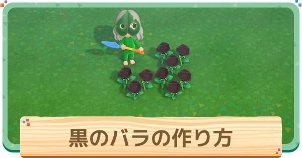 あつ 森 黒い バラ