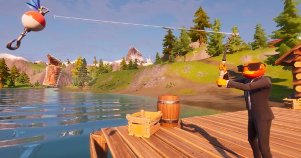 武器、缶、魚をそれぞれ1つ釣る