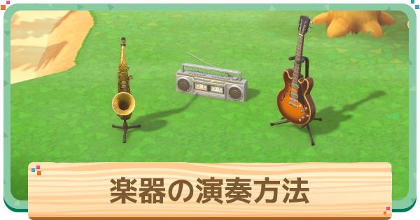 楽器の演奏方法と流れる音