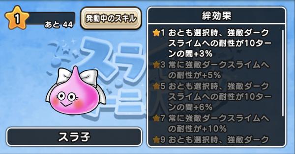 スラ子の評価と絆レベルの効果一覧!