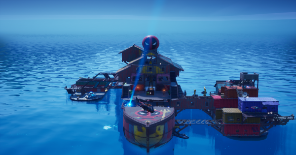 ザ・ヨットで渦から着地して10秒以内に敵にダメージを与える