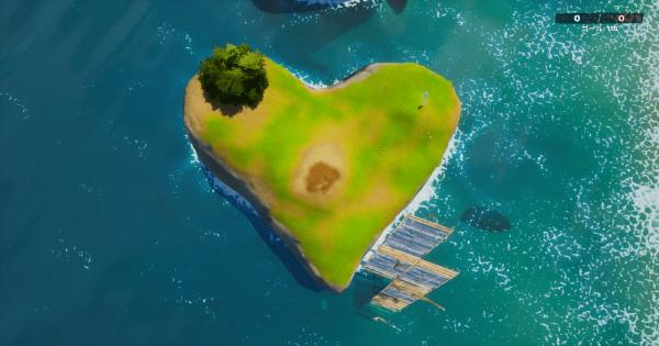 グルートとしてハート型の島に種を植える