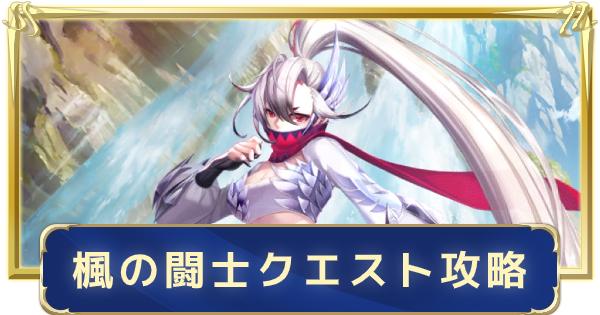鶴座・楓の闘士クエスト攻略と会話の当たり選択肢