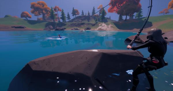 ハートレイクで魚を釣る