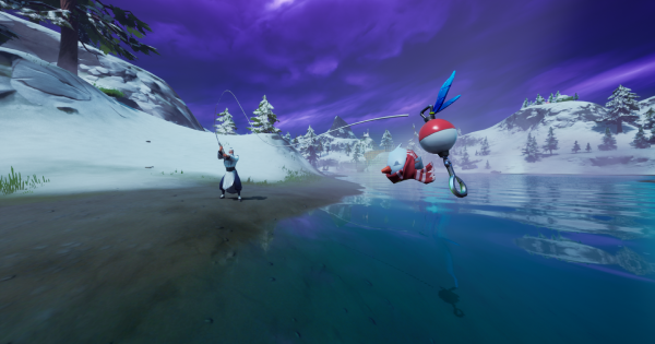 スノーイーフロッパーを釣る