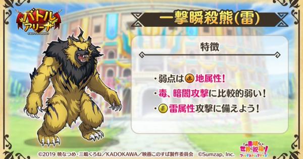 一撃瞬殺熊(雷)の攻略とハイスコア編成