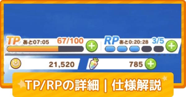TP/RPの回復方法