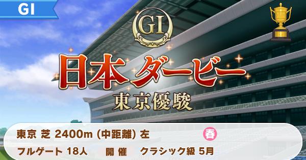 日本ダービー東京優駿の開催時期と勝ち方