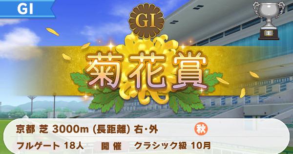 菊花賞の開催時期と勝ち方