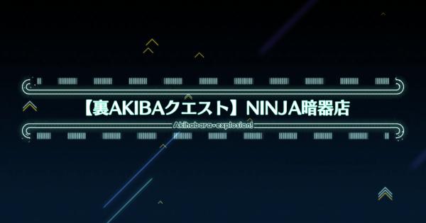 『NINJA暗器店』攻略 裏AKIBAクエスト