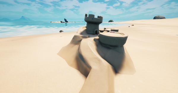 特別な砂の城を破壊する