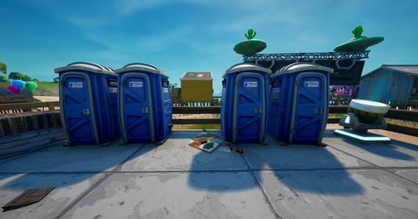 ポータブルトイレの間を移動する