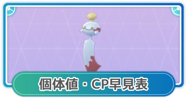 チリーンのCP・個体値早見表