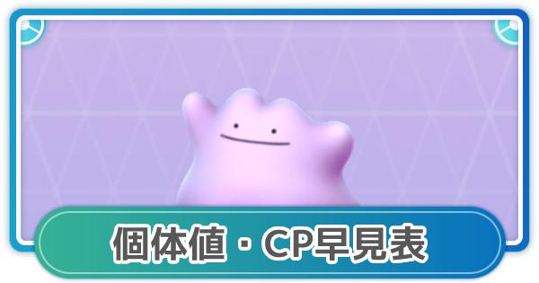 メタモンのCP・個体値早見表