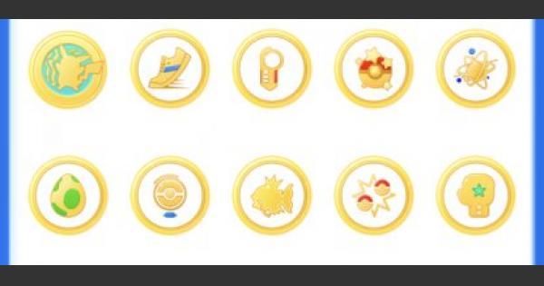 メダル/チャレンジの一覧