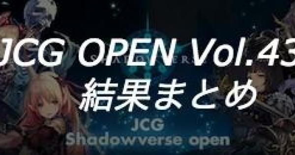 JCG OPEN vol.43 A大会の結果まとめ