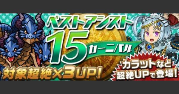 ベストアシスト15ガチャのシミュレーター【1/5〜1/12】