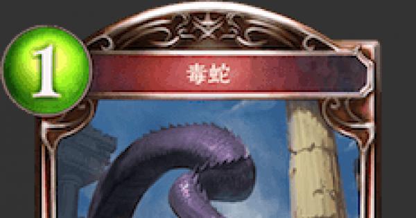 毒蛇の情報