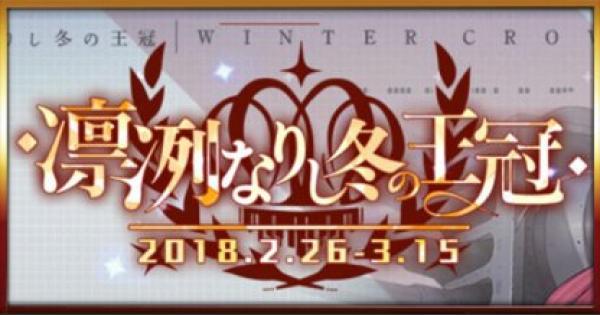 EX海域(凛冽なりし冬の王冠)攻略のコツと報酬