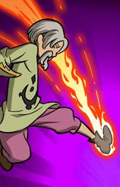 燃え上がる炎ケインスキル1