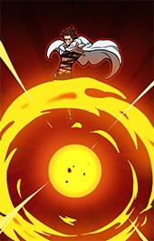 魔神族の精鋭モンスピートスキル2