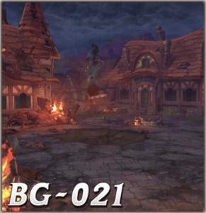 燃え上がるバーニャの村