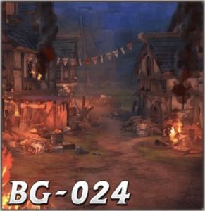 燃え上がるバイゼルの町